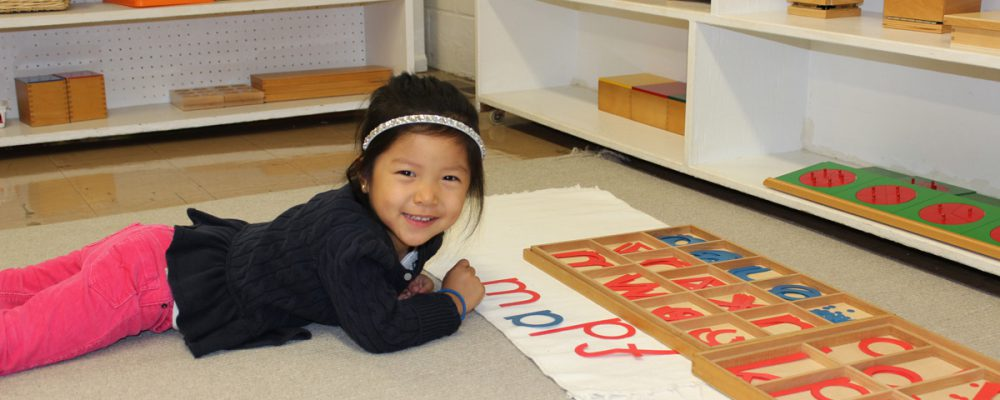 North Shore Montessori student learning
